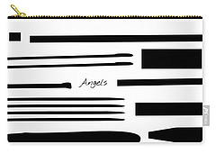 Carry-all Pouch featuring the mixed media Angels by Jessica Eli