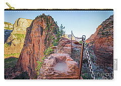 Angels Landing Hiking Trail Carry-all Pouch by JR Photography