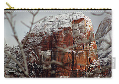 Angels Landing Under Snow Carry-all Pouch