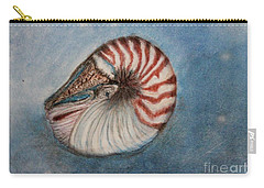 Carry-all Pouch featuring the painting Angel's Seashell  by Kim Nelson