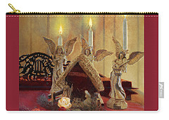 Carry-all Pouch featuring the painting Angels Watching Over by Nancy Lee Moran
