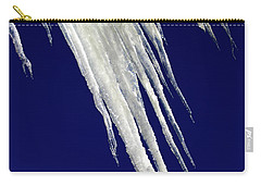Carry-all Pouch featuring the photograph Angled Ice by Shane Bechler