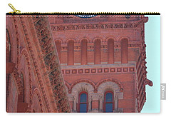 Angled View Of Clocktower At Dearborn Station Chicago Carry-all Pouch