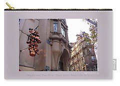 Carry-all Pouch featuring the photograph Angles And Details At Place Saint Andre Des Arts Poster by Felipe Adan Lerma