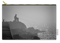 Angling In A Fog  Carry-all Pouch by Bill Pevlor
