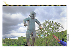 Angry Boy Carry-all Pouch by Allan Levin