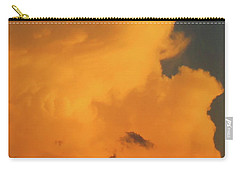 Angry Cloud Profile At Sunset Carry-all Pouch