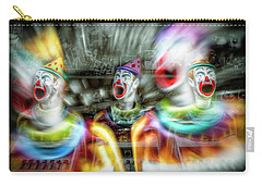 Carry-all Pouch featuring the photograph Angry Clowns by Wayne Sherriff