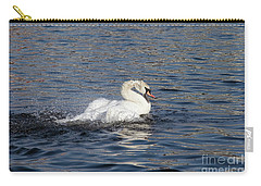 Angry Swan On The Water Carry-all Pouch by Michal Boubin