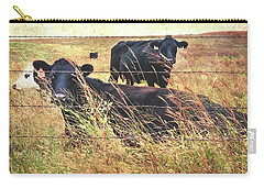 Carry-all Pouch featuring the photograph Angus Cows by Anna Louise