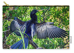 Carry-all Pouch featuring the photograph Anhinga Blue Eye by Deborah Benoit