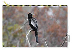 Carry-all Pouch featuring the photograph Anhinga by Gary Wightman