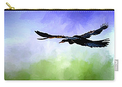 Anhinga In Flight Carry-all Pouch by Cyndy Doty