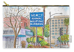 Anibal Hospital Burbank In Olive St., Burbank, California Carry-all Pouch by Carlos G Groppa