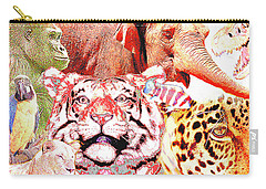 Animal Collage Digital Art Carry-all Pouch