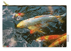 Carry-all Pouch featuring the photograph Animal - Fish - Bestow Good Fortune by Mike Savad