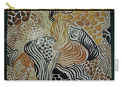 Animal Print Floor Cloth Carry-all Pouch