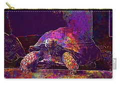 Carry-all Pouch featuring the digital art Animal Turtle Zoo  by PixBreak Art