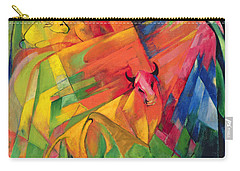 Animals In A Landscape Carry-all Pouch by Franz Marc