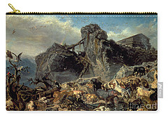 Animals Leaving The Ark, Mount Ararat  Carry-all Pouch by Filippo Palizzi