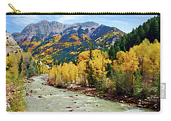 Carry-all Pouch featuring the photograph Animas River San Juan Mtns, Co, Panorama by Kurt Van Wagner