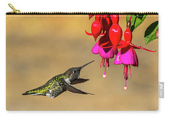 Anna And Hardy Fuchsia Flower Carry-all Pouch