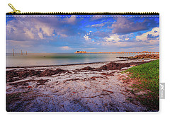 Carry-all Pouch featuring the photograph Anna Maria City Pier by Doug Camara