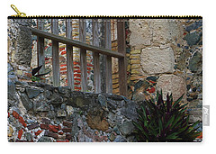 Carry-all Pouch featuring the photograph Annaberg Ruin Brickwork At U.s. Virgin Islands National Park by Jetson Nguyen