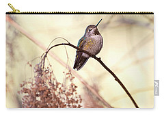 Anna's Hummingbird Closeup Carry-all Pouch by Peggy Collins