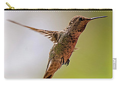 Carry-all Pouch featuring the photograph Anna's Hummingbird H24 by Mark Myhaver