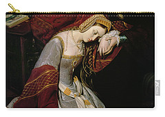Anne Boleyn In The Tower Carry-all Pouch by Edouard Cibot