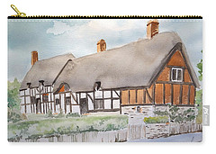 Carry-all Pouch featuring the painting Anne Hathaway's Cottage by Marilyn Zalatan