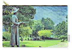 Carry-all Pouch featuring the photograph Bronze Of Belle Starr The Bandit Queen by Janette Boyd