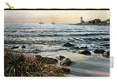 Annisquam Beach And Lighthouse Carry-all Pouch