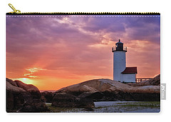 Annisquam Lighthouse Sunset Gloucester Ma Carry-all Pouch