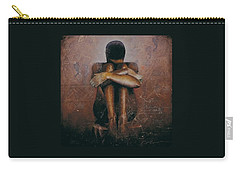 Carry-all Pouch featuring the painting Annunciation / Mary by Christopher Marion Thomas