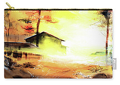 Carry-all Pouch featuring the painting Another Good Morning by Anil Nene
