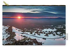 Carry-all Pouch featuring the photograph Another Sunset At Crater Lake by William Lee