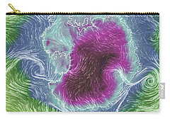 Carry-all Pouch featuring the photograph Antartica Surface Winds And Temps by Geraldine Alexander