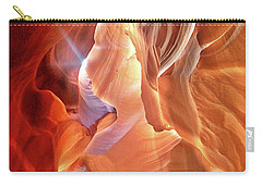 Antelope Canyon Light Carry-all Pouch by Lorella Schoales
