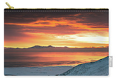 Carry-all Pouch featuring the photograph Antelope Island Sunset by Bryan Carter