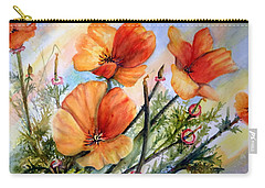 Antelope Valley Poppy Fields Carry-all Pouch