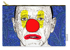 Carry-all Pouch featuring the drawing Anthony Hopkins by Jason Tricktop Matthews