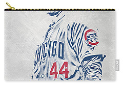 Anthony Rizzo Chicago Cubs Pixel Art Carry-all Pouch
