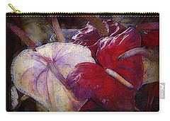 Carry-all Pouch featuring the photograph Anthuriums For My Valentine by Lori Seaman