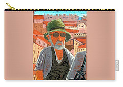 Carry-all Pouch featuring the painting Antibes Self by Gary Coleman