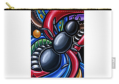 Carry-all Pouch featuring the painting Antics - Abstract Ant Painting - Chromatic Acrylic Art - Ai P. Nilson by Ai P Nilson