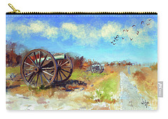 Carry-all Pouch featuring the digital art Antietam Under Blue Skies  by Lois Bryan