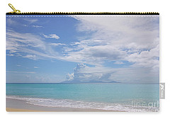 Antigua Beach View Of Montserrat Volcano Carry-all Pouch