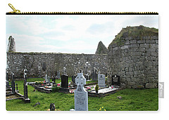 Carry-all Pouch featuring the photograph Antigua Iglesia De Killinaboy, Ireland by Marie Leslie